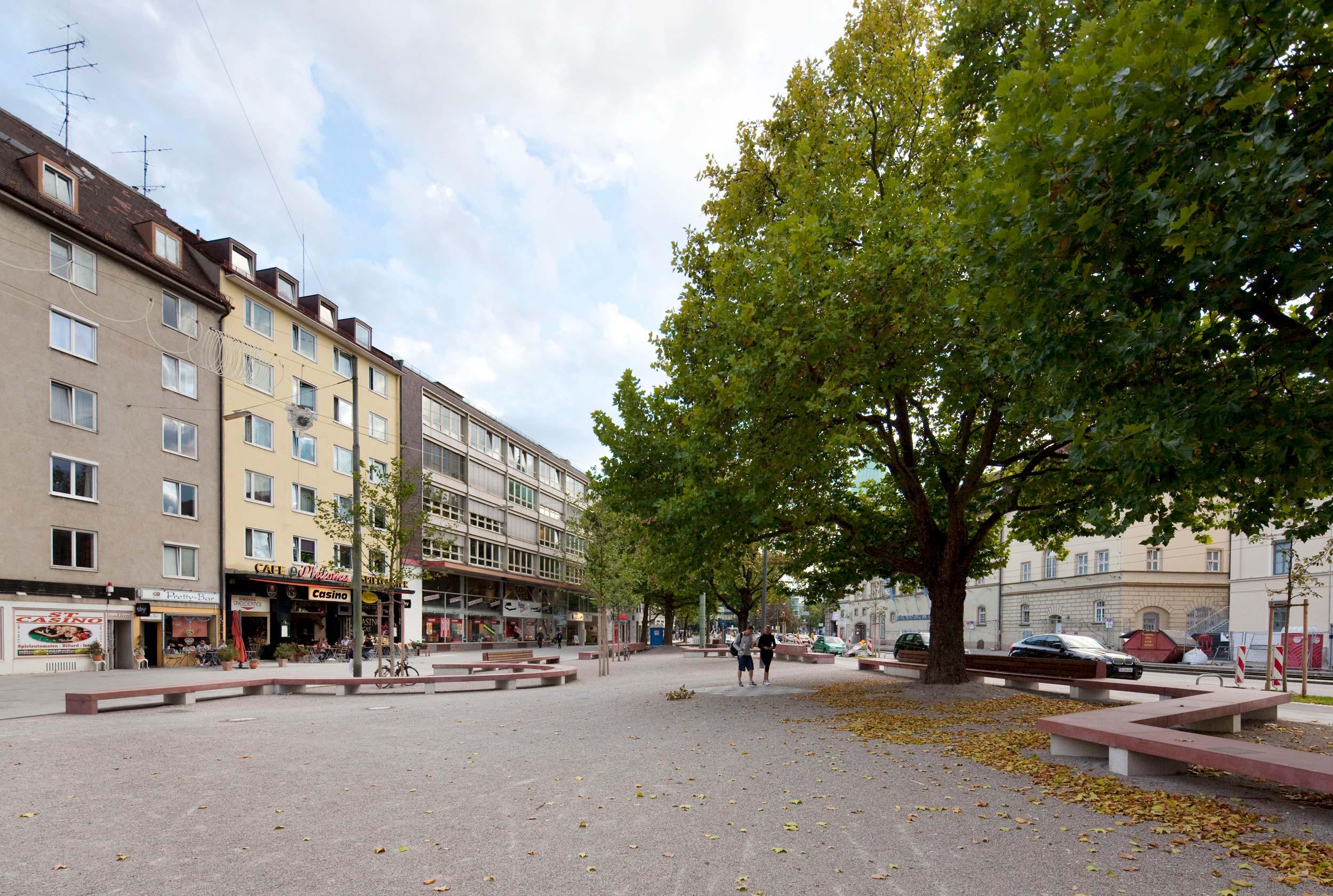 Platz an der Rottmannstrasse in München
